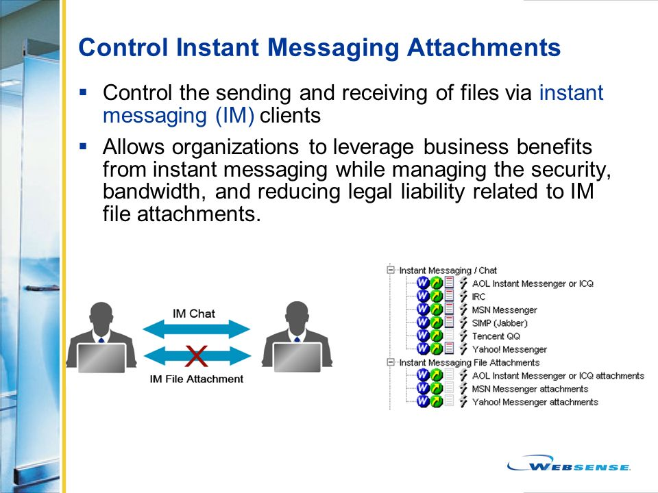 Control Instant Messaging Attachments
