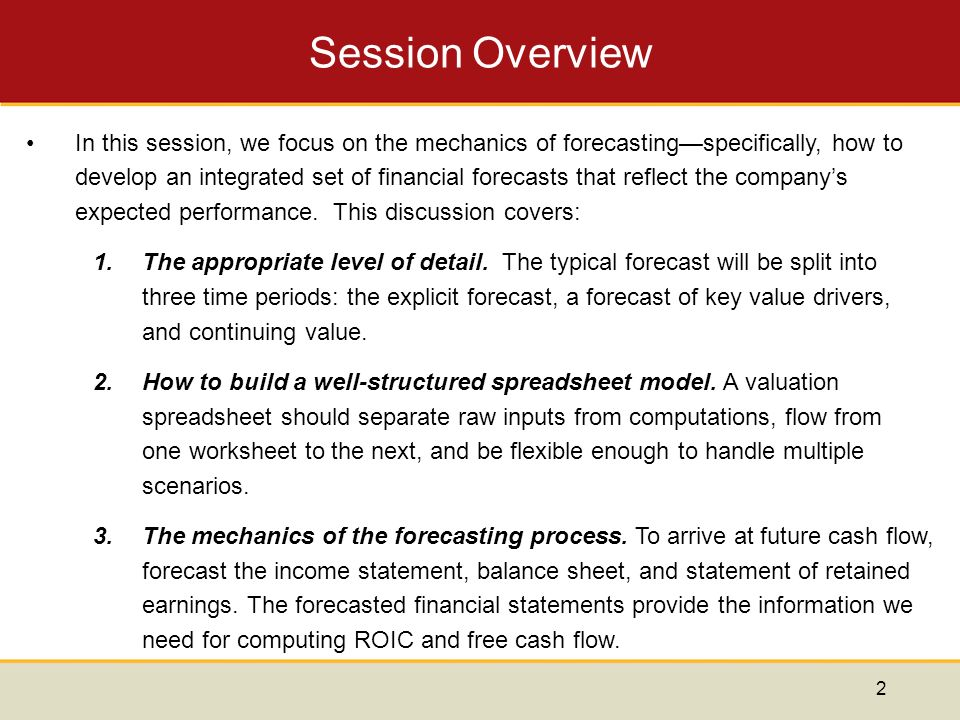Forecasting Performance: The Explicit Forecast Period - ppt