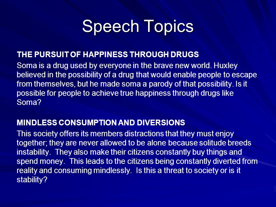 possible speech topics