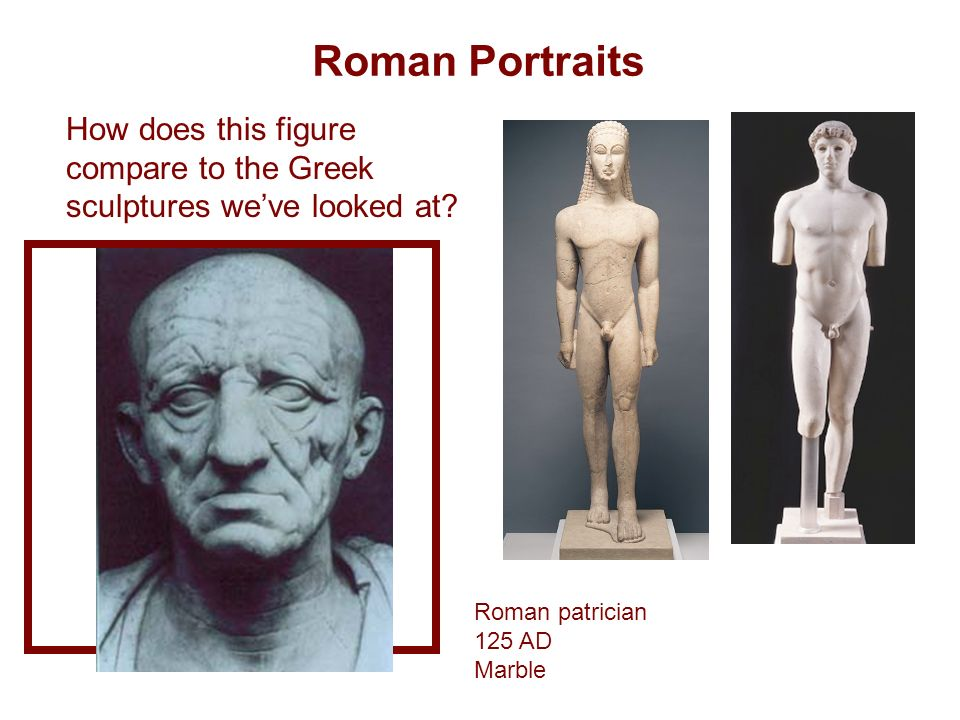 greek vs roman sculpture differences