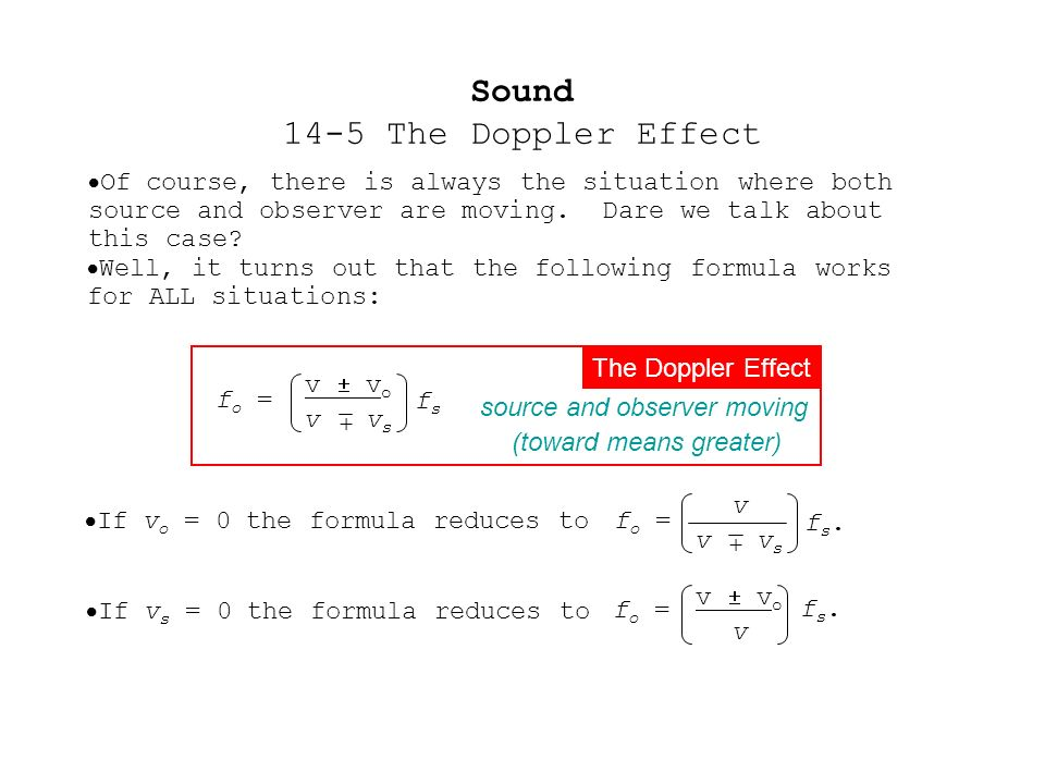 Sound 14-5 The Doppler Effect - ppt download