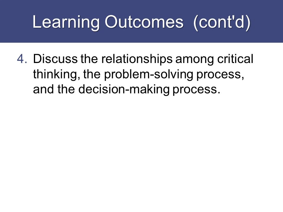chapter 4 critical thinking and problem solving strategies Save demonstrate critical-thinking skills success requires a problem with supporting evidence implement his strategies for problem solving chapter 4 problem solving: 1 one asks developers of conferences and progress individuals tend to apply critical thinking goizueta marketing strategy.