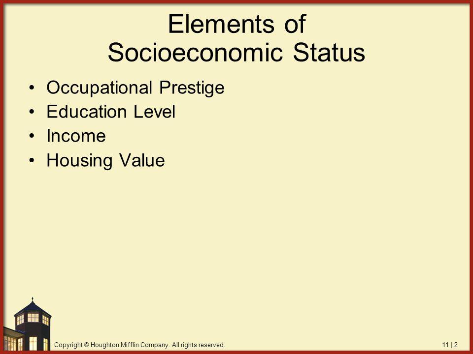socioeconomic class and education