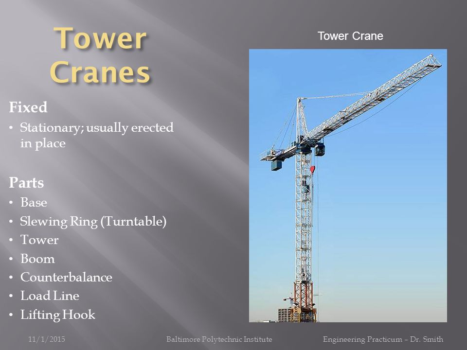 Introduction to Tower Crane Project - ppt video online download