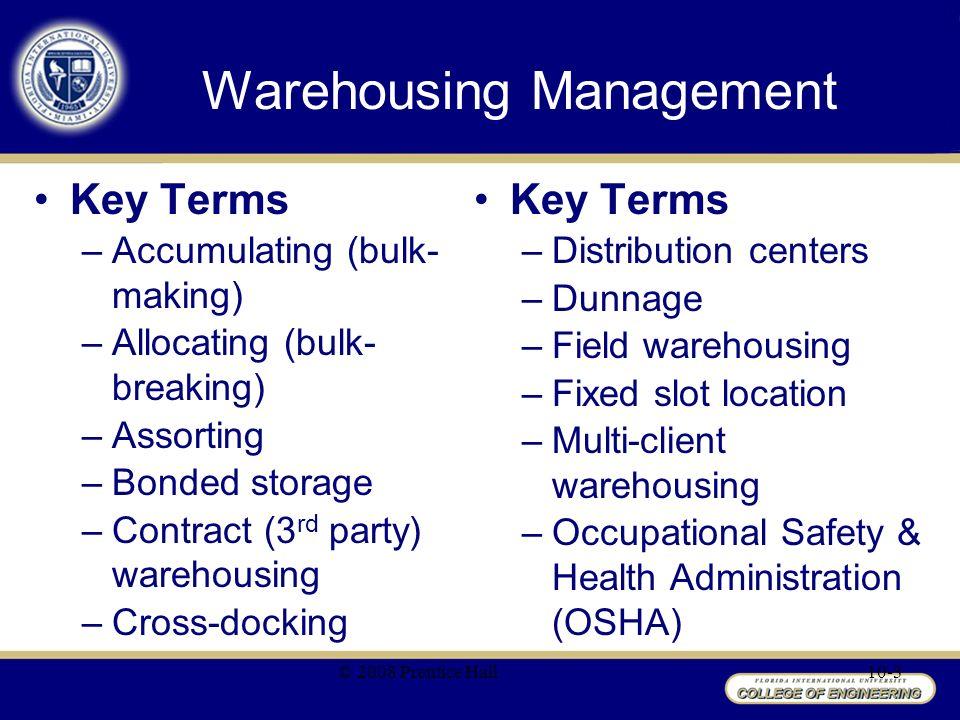 Chapter 10 Warehousing Management - ppt video online download
