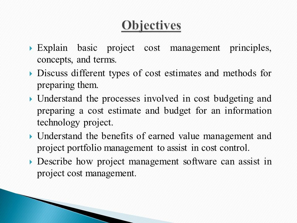 Project Cost Management Ppt Video Online Download
