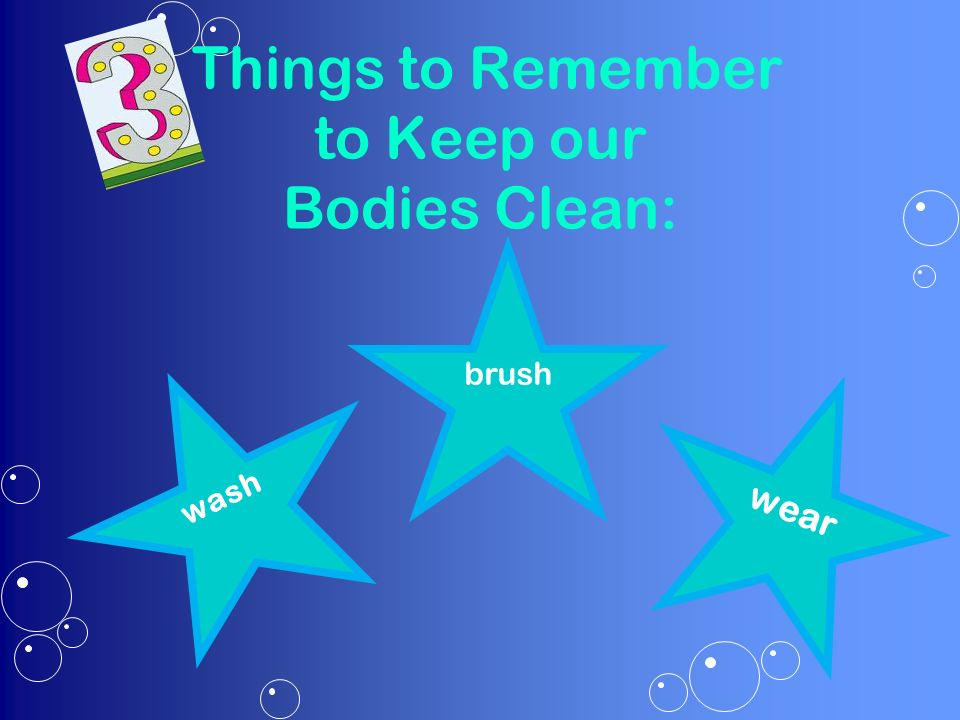 how to keep our body healthy and clean