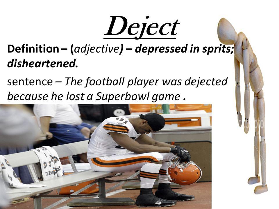 Dejected sentence examples