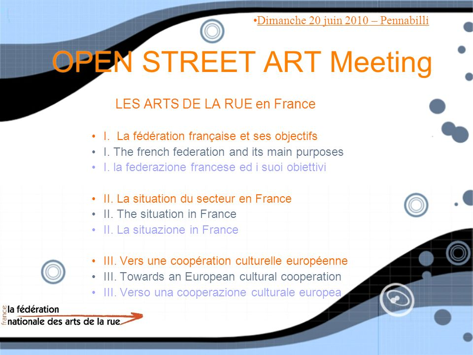OPEN STREET ART Meeting