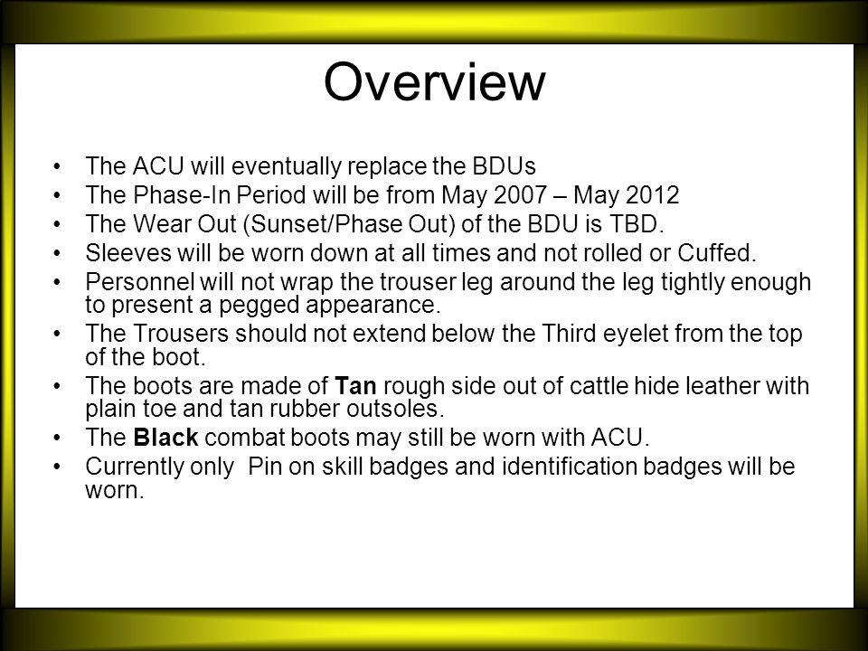 Army Combat Uniform (ACU) - ppt video online download