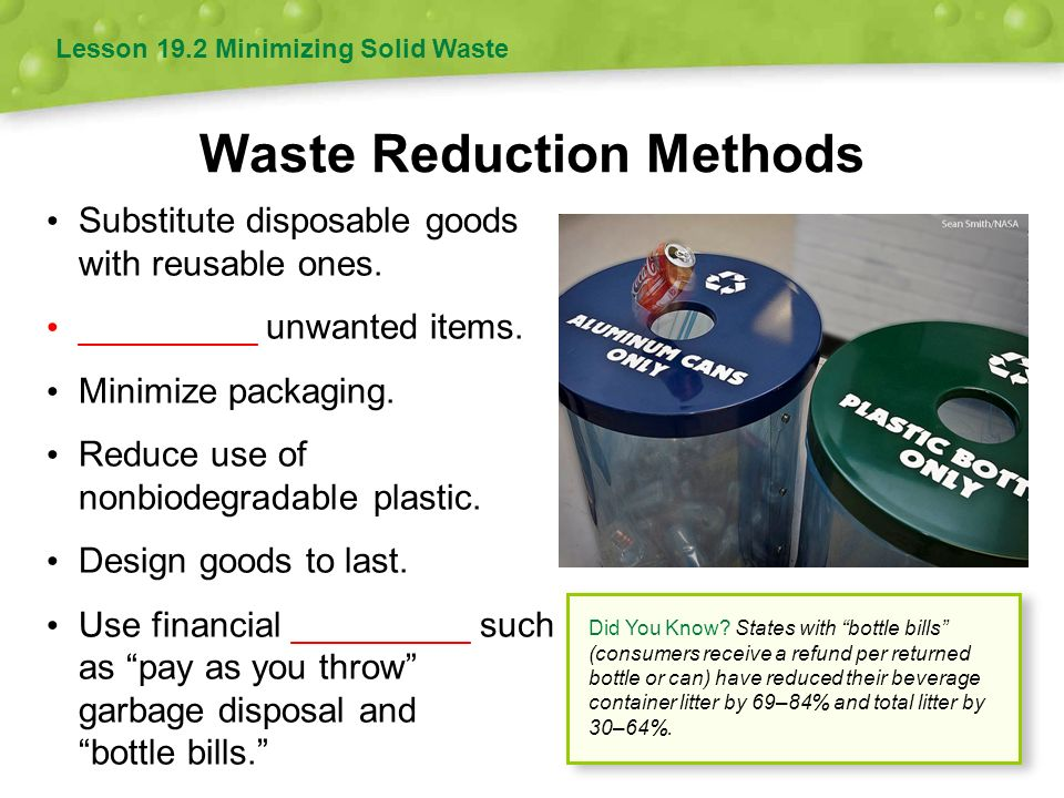 Waste Reduction Methods
