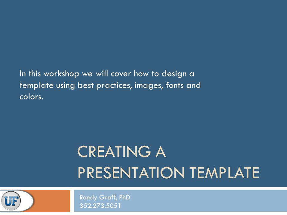 Creating A Presentation Template