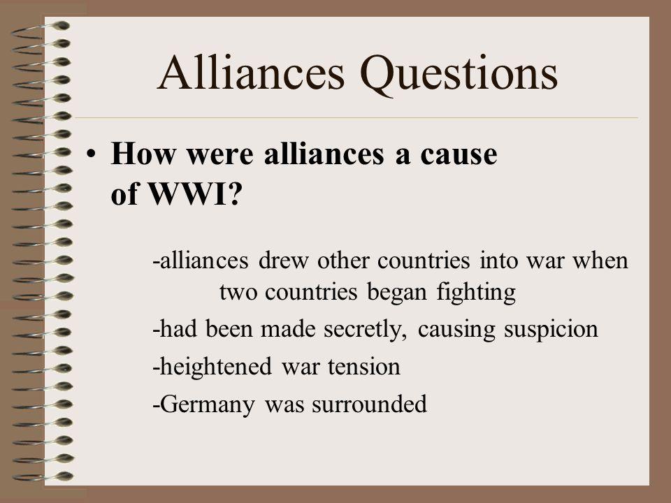 ww1 causes alliances