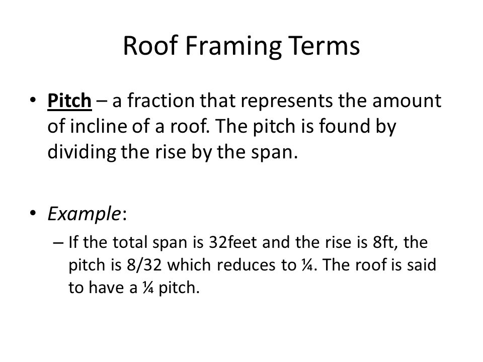 25 roof - Roof Terms