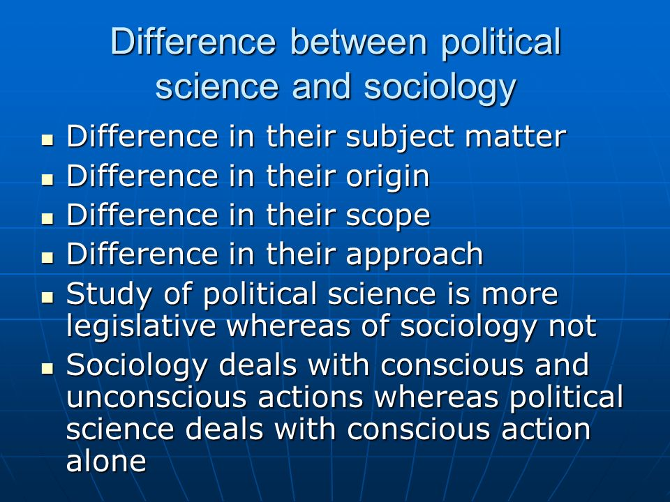 scope of political sociology