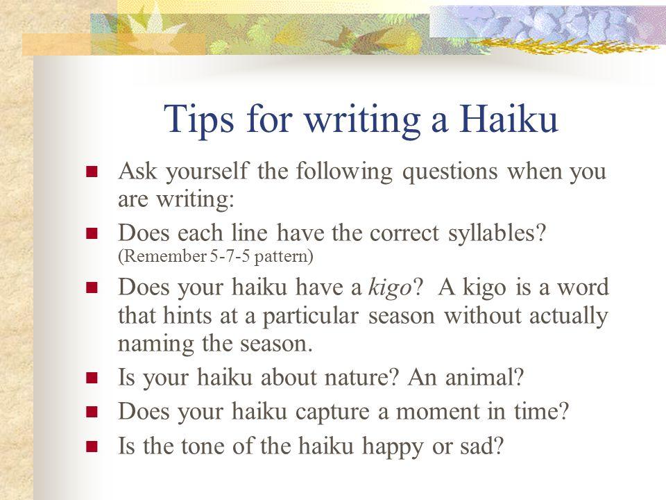 write haiku