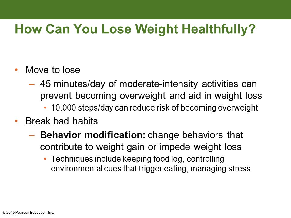 Weight management and energy balance ppt video online download how can you lose weight healthfully ccuart Image collections