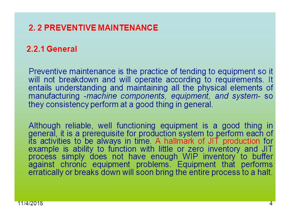 2  TYPES OF MAINTENANCE Three Types of Maintenance - ppt video