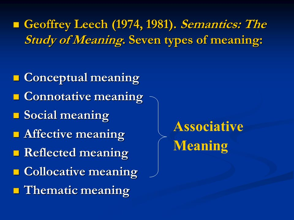 Types of meaning  - ppt video online download