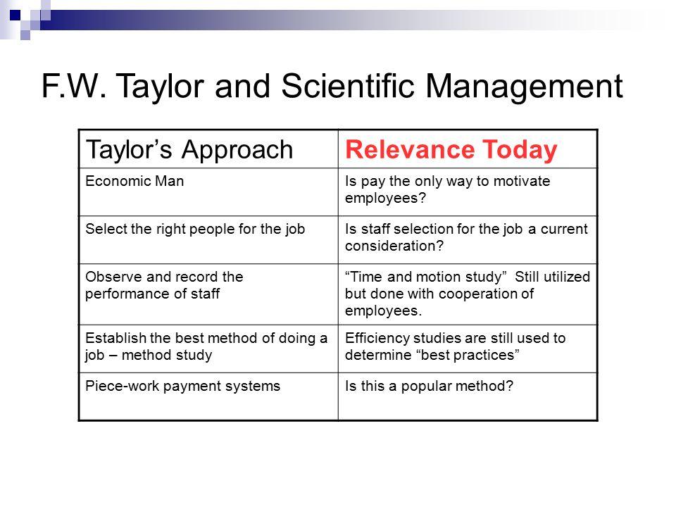 is scientific management still relevant today