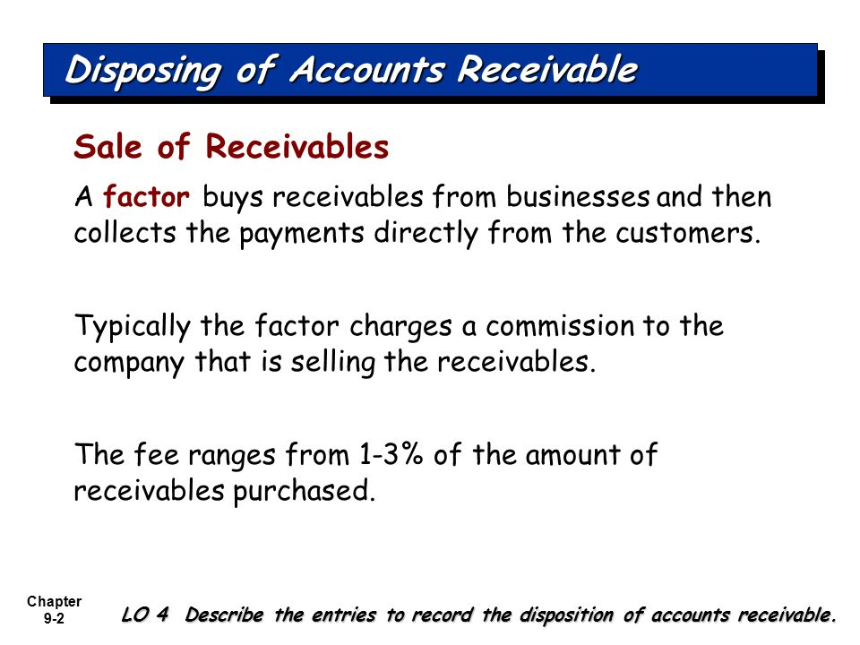 determining the accounting for receivables from December 2014 impairment of financial instruments under ifrs 9 1  accounting  2 december 2014 impairment of financial instruments under ifrs 9.