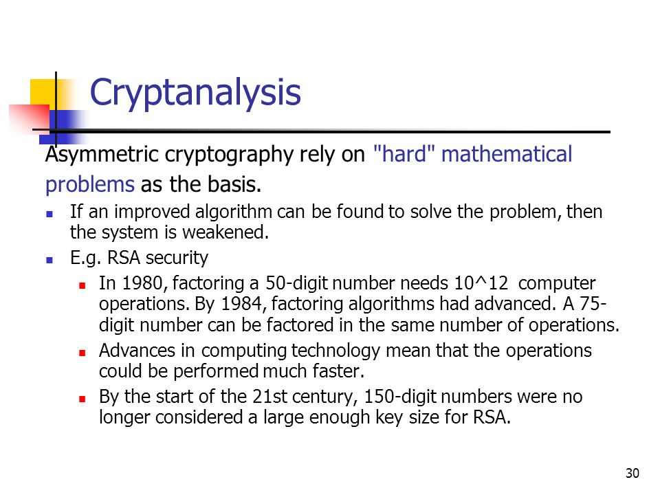 Chapter 2 Advanced Cryptography (Part C) - ppt download