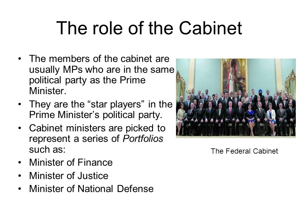 what is the role of cabinet members the branches of government ppt 28313