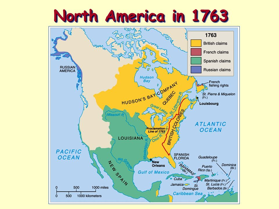 Map Of North America 1763.The French And Indian War Ppt Video Online Download