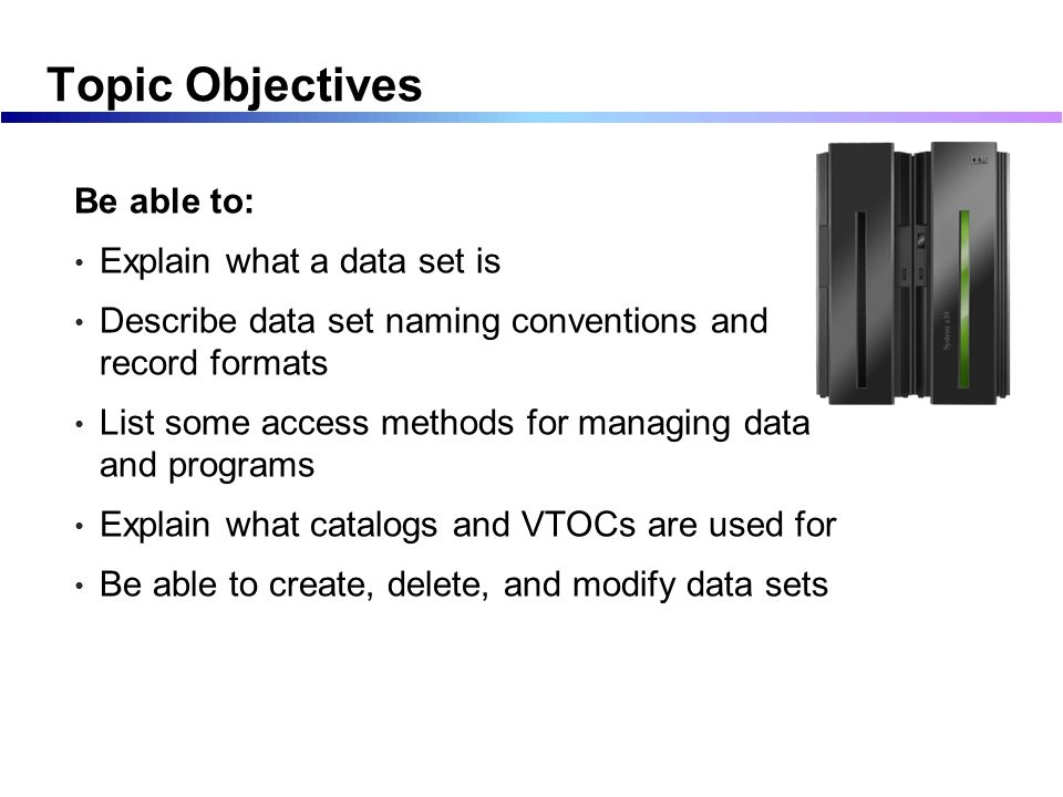 Working with Datasets Part 1, non VSAM - ppt download