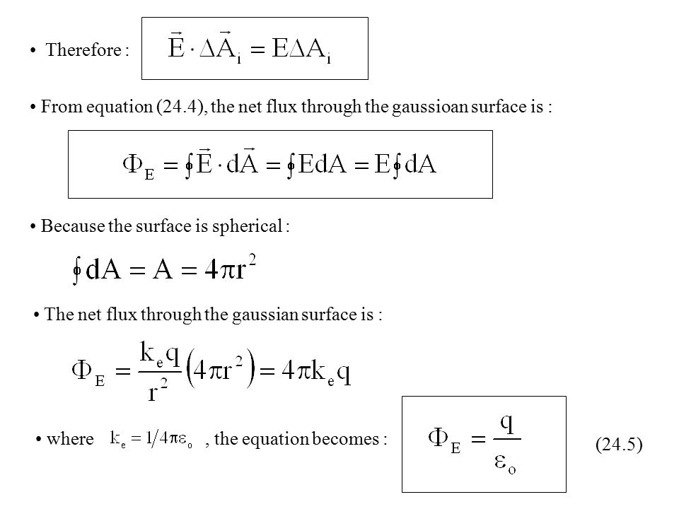CHAPTER 24 : GAUSS'S LAW 24 1) ELECTRIC FLUX - ppt video