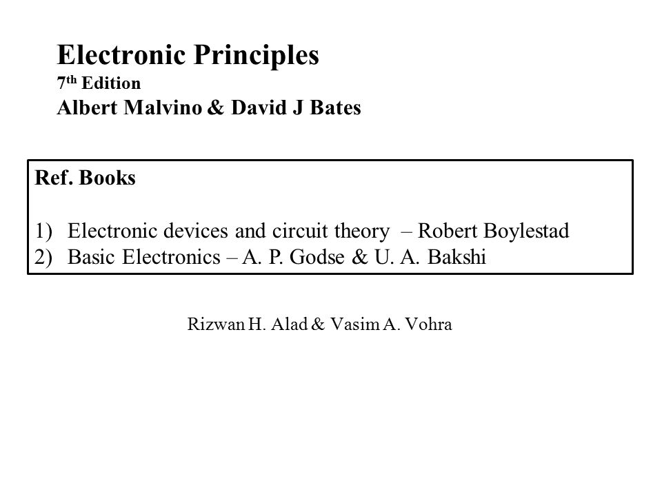 Electronic Principles Albert Malvino 7th Edition Pdf