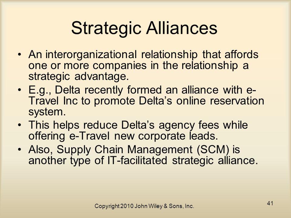 strategic alliances in supply chain management
