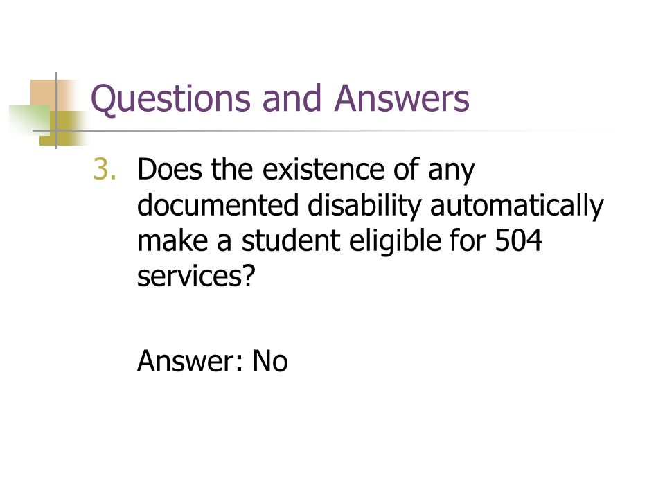 Section 504 Accommodations - ppt video online download