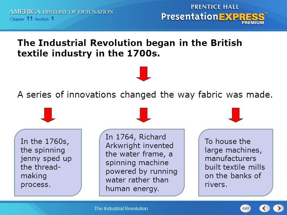 Objectives Explain the changes that the Industrial Revolution ...