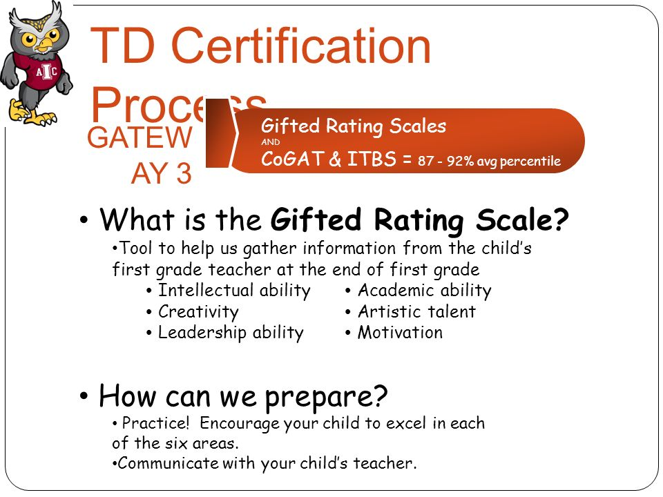 13 TD Certification Process Gifted Rating Scales ...