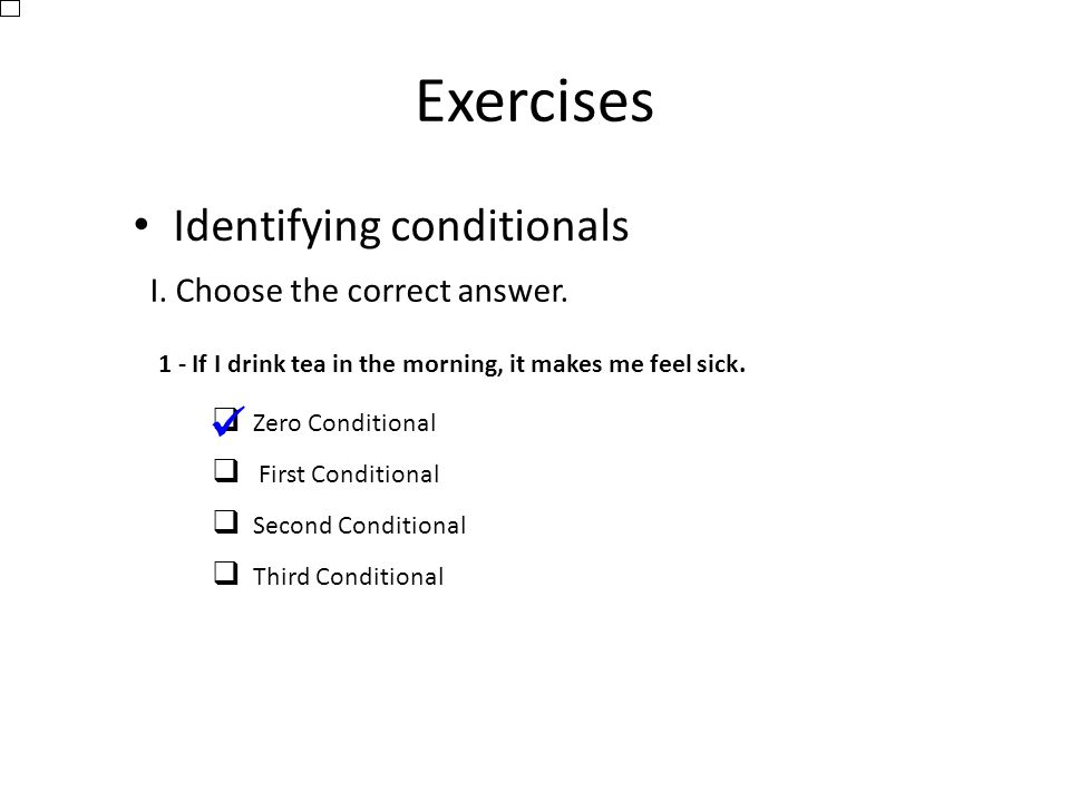 if conditionals exercises with answers pdf