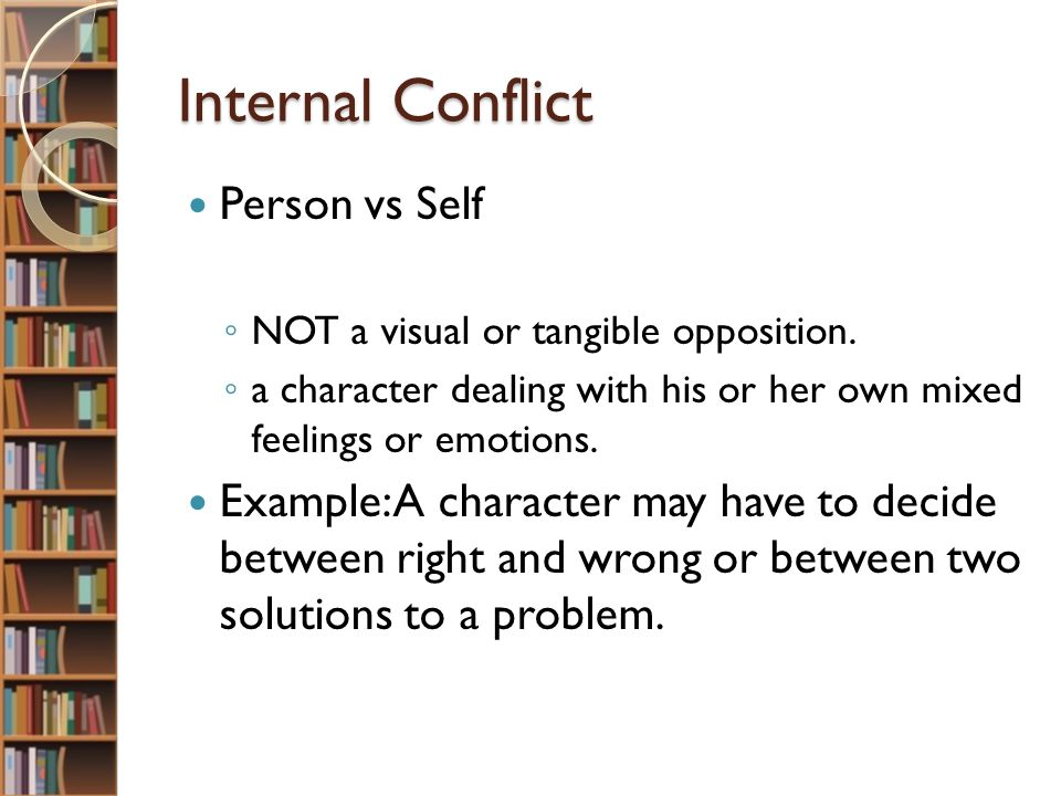 external conflict examples world of example