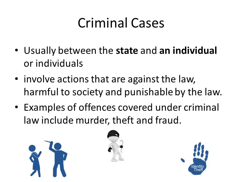 Differences Between Criminal Cases and Civil Disputes - ppt