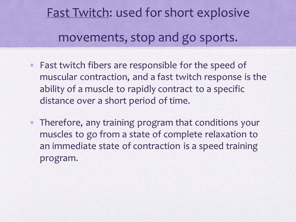 Slow and Fast twitch Muscle Fibre types - ppt video online