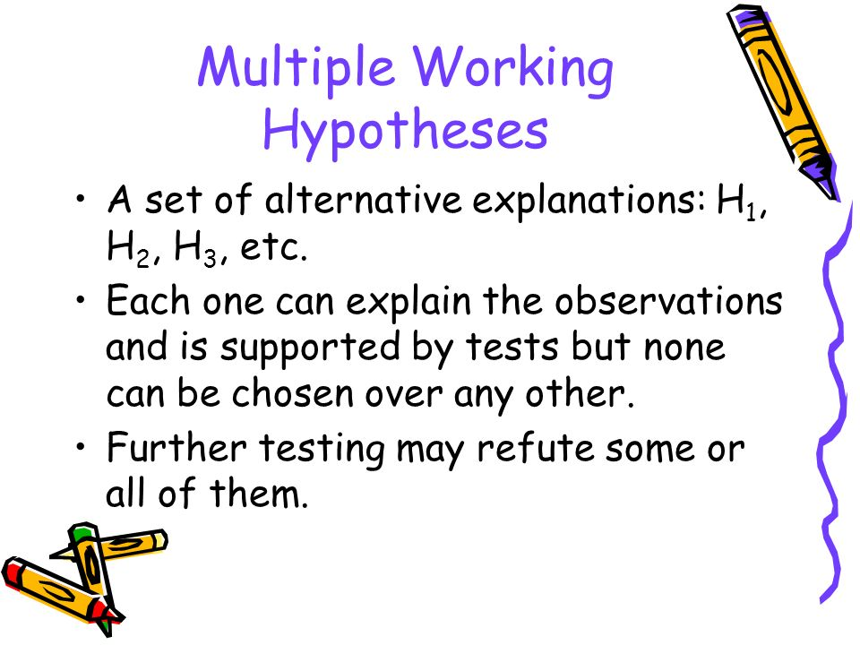 Multiple Working Hypotheses