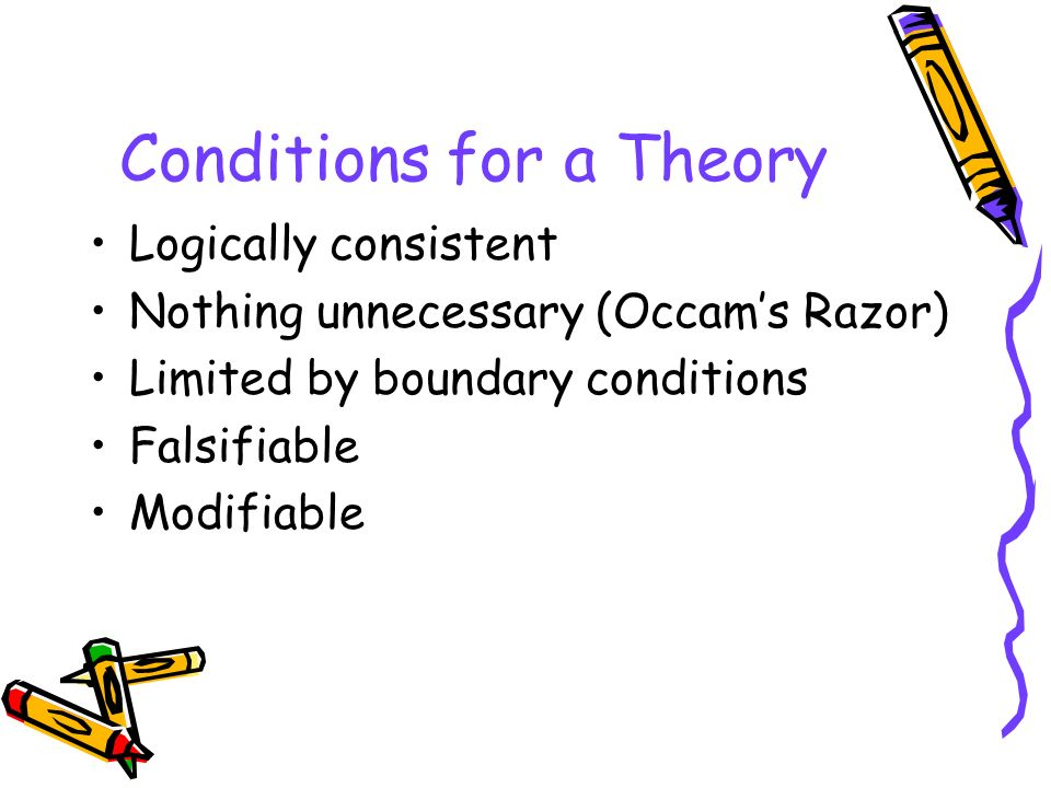 Conditions for a Theory