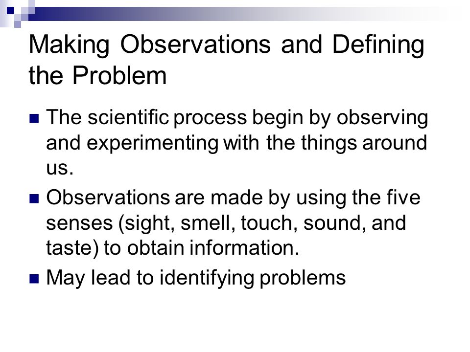 Making Observations and Defining the Problem