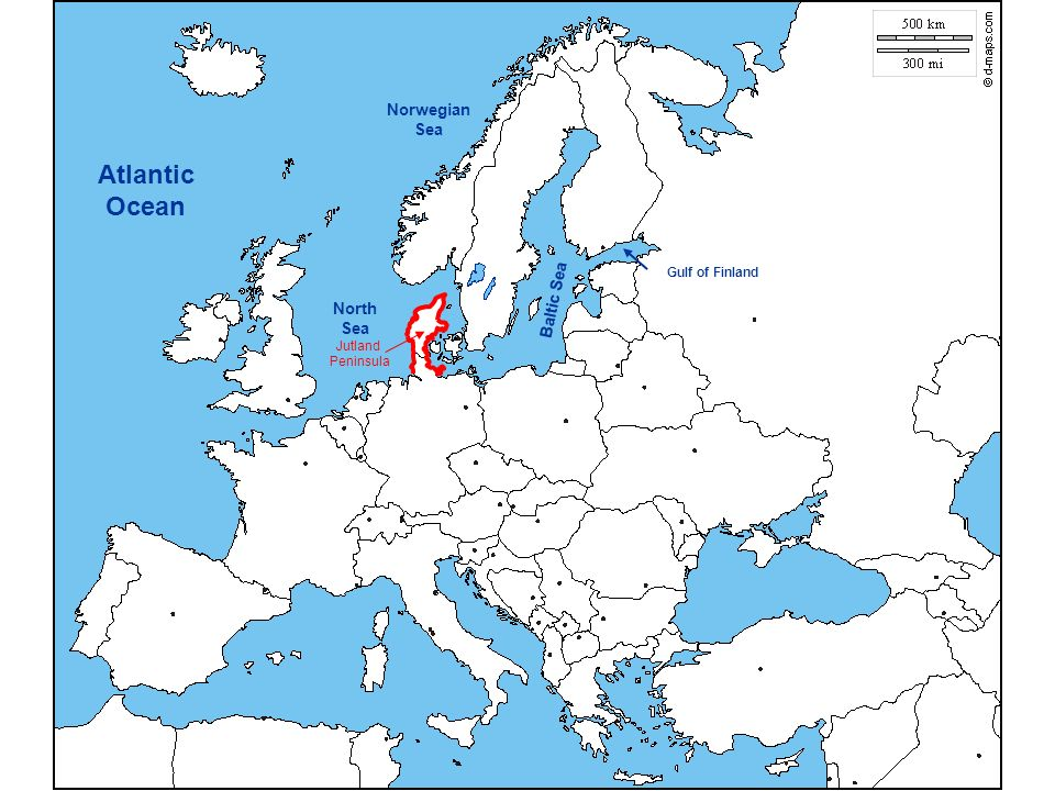 North Sea Europe Map.Political Map Of Europe Ppt Video Online Download