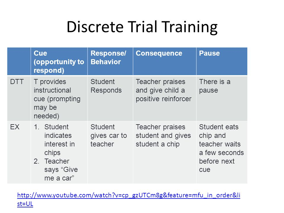 Discrete Trial Training & Pivotal Response Training - ppt