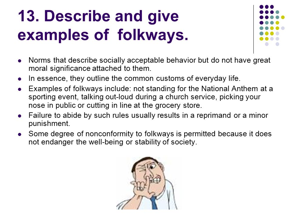 folkway violation examples