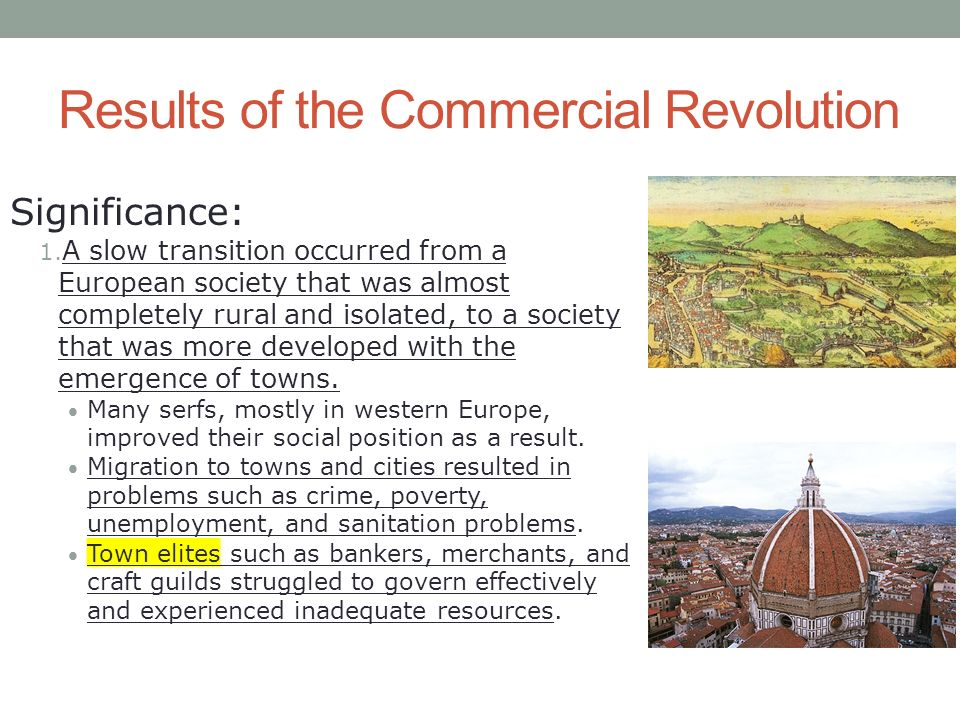 commercial revolution in europe