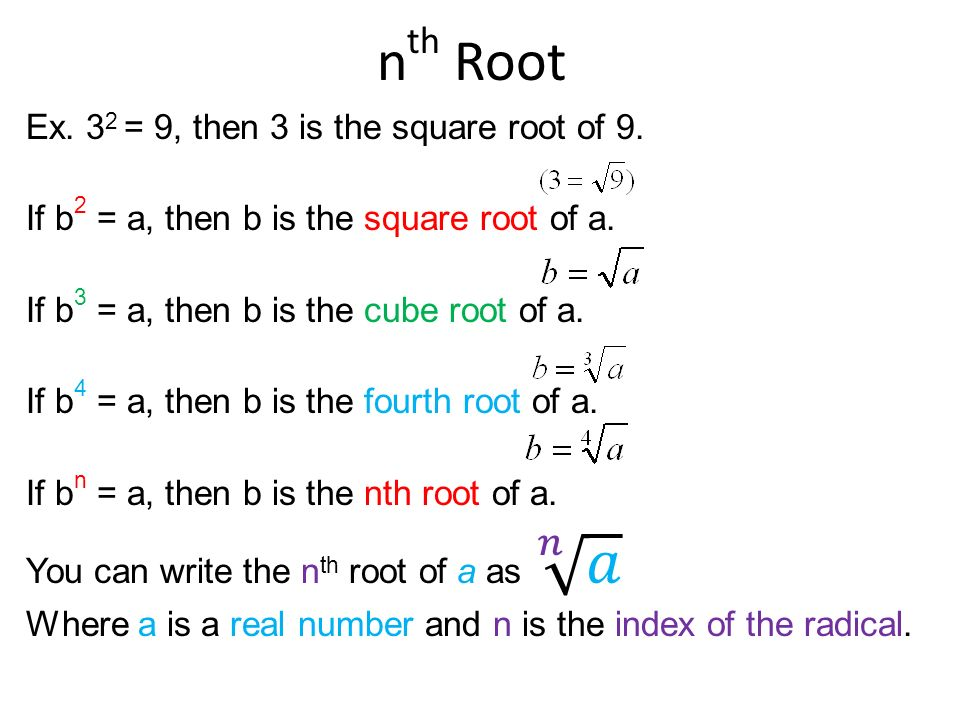 7 1 nth Roots and Rational Exponents - ppt download