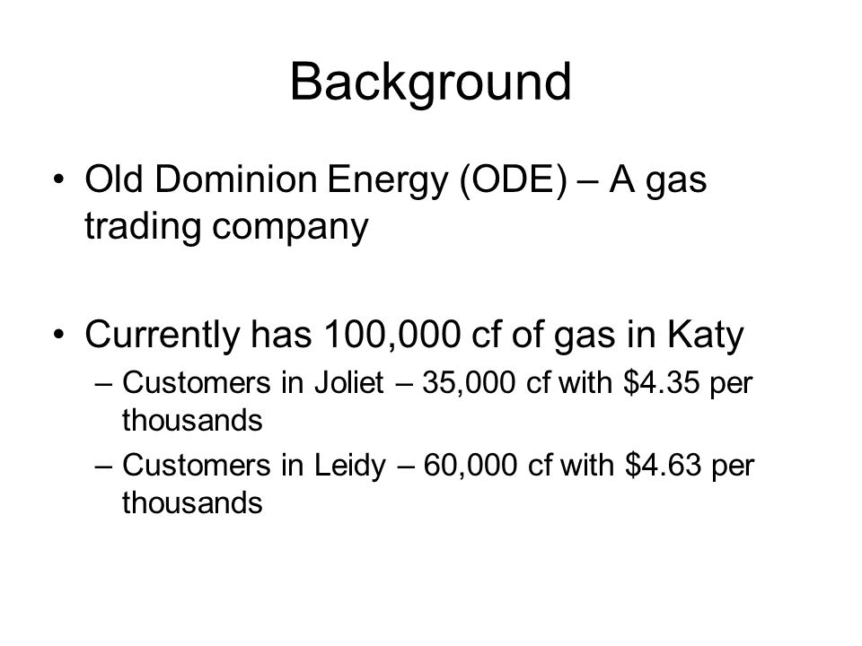 Case 5.1 Old Dominion Energy - ppt video online download