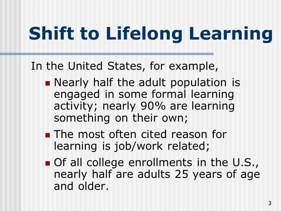 adults for Learning theory older