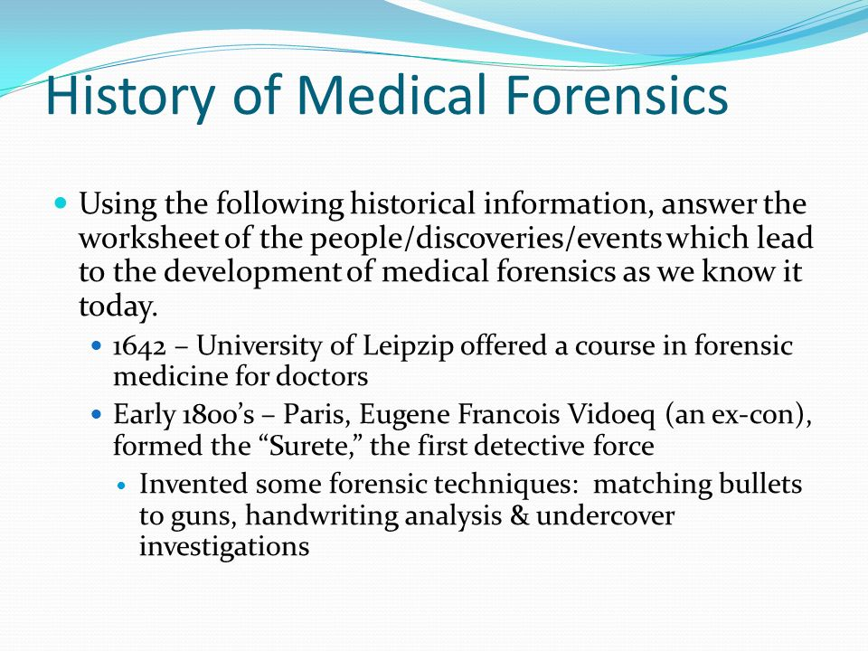 Introduction To Medical Forensics Ppt Video Online Download